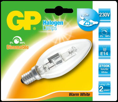 GP Lighting Halogen Kerze E14 20W (25W) warmweiß 170 lm