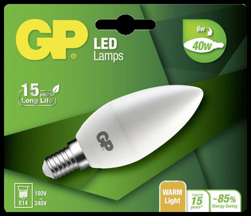 GP Lighting LED Mini Kerze E14 6W (40W) 470 lm